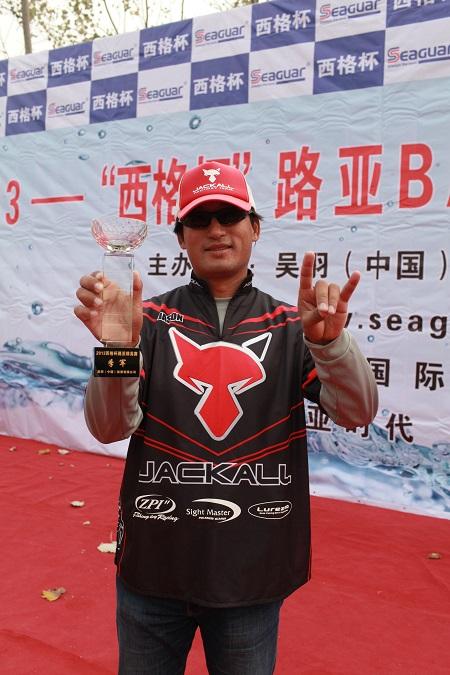 JACKALLプロスタッフ曾氏,SEAGUAR(西格杯)カップ3位に入賞!