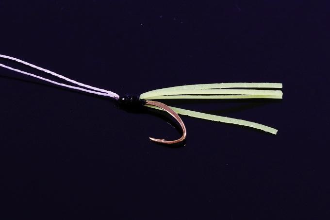 平打ち金針+ラバーのオリジナルフック