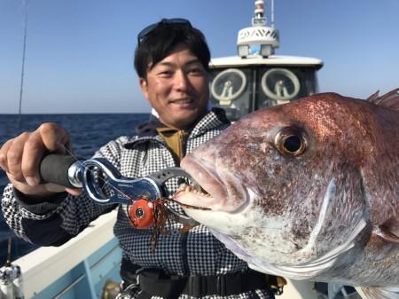 鹿児島錦江湾で鯛ラバゲーム