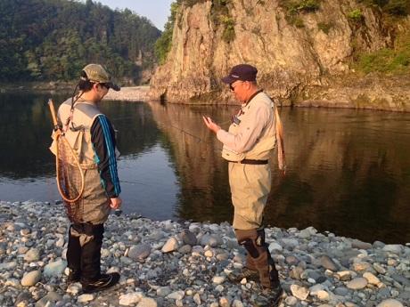 長良川へサツキマス狙い