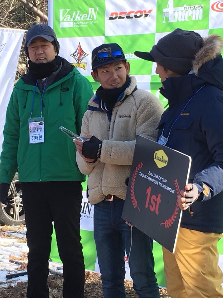 マイナス14度の世界。杉山代悟プロが韓国エリアフィッシング大会で優勝。